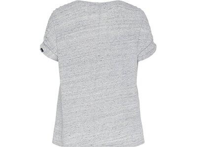 CHIEMSEE T-Shirt überschnittene Schultern aus Leinen Grau