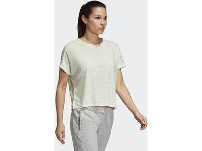 ADIDAS Damen T-Shirt ID 3-Streifen Grün