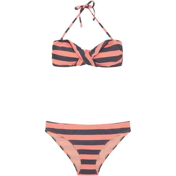 CHIEMSEE Bandeau Bikini-Set gemustert mit abnehmbaren Trägern Orange