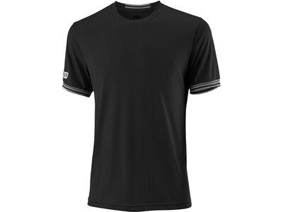 "WILSON Herren Tennisshirt ""Team Solid Crew"" Kurzarm Schwarz"