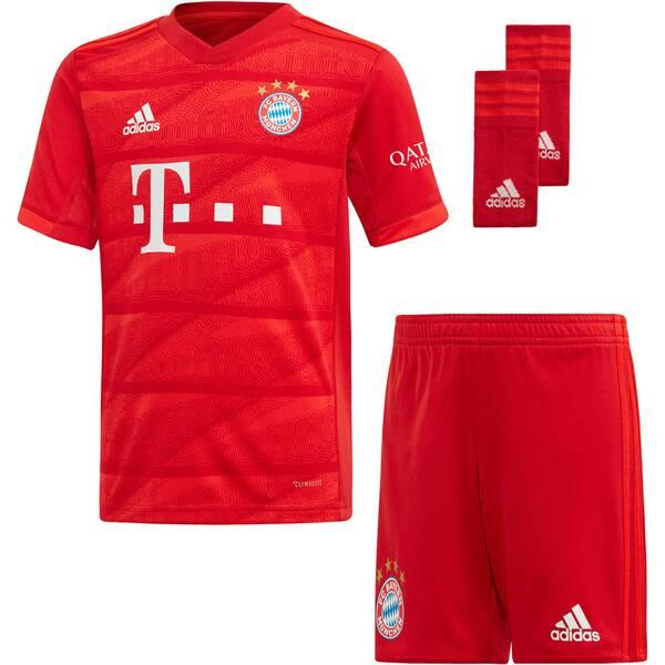 """ADIDAS Kinder Fußball-Set Trikot, Shorts und Socken """"FC Bayern München Mini-Heimausrüstung"""" - Replic"""