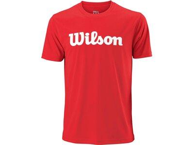 "WILSON Herren Tennisshirt ""UWII Script Tech Tee"" Kurzarm Rot"