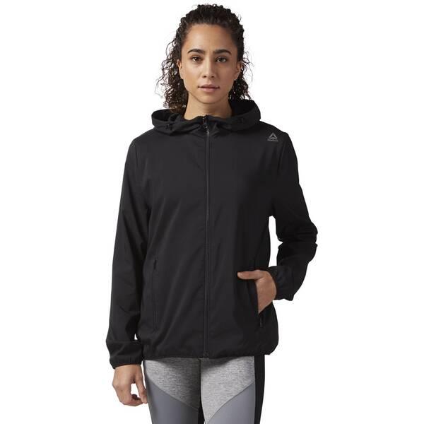 REEBOK Damen Full Zip Hoodie | Bekleidung > Sweatshirts & -jacken > Zip-Hoodies | Black | REEBOK