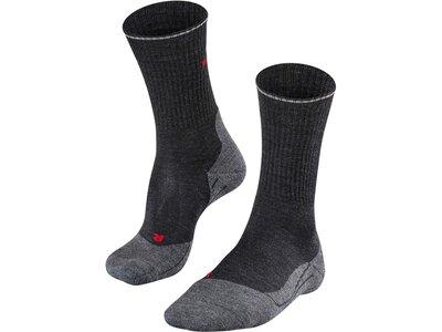 FALKE Herren Trekking Socken TK2 Wool Silk Grau