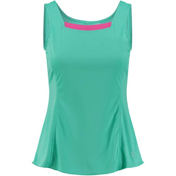 LIMITEDSPORTS Damen Tennis-Top Tina | Sportbekleidung > Sporttops > Tennistops | Green - Raspberry - Rose | LIMITEDSPORTS