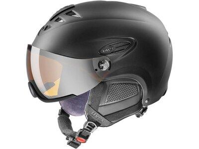"""UVEX Skihelm / Snowboardhelm """"helmet 300 Visor"""" Schwarz"""