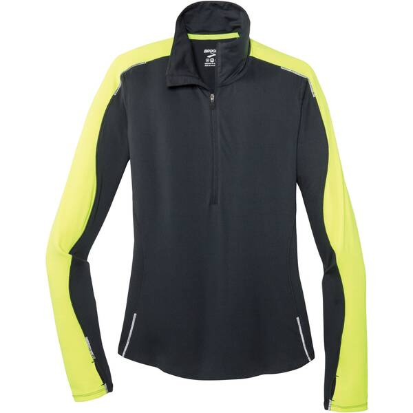 "BROOKS Damen Laufshirt ""Nightlife 1/2 Zip W"" Langarm"