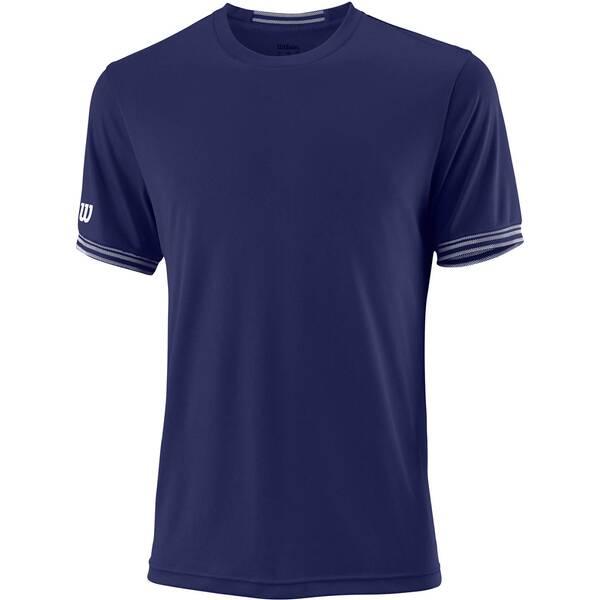 WILSON Herren Tennisshirt Team Solid Crew Kurzarm | Sportbekleidung > Sportshirts > Tennisshirts | Blue - White | WILSON