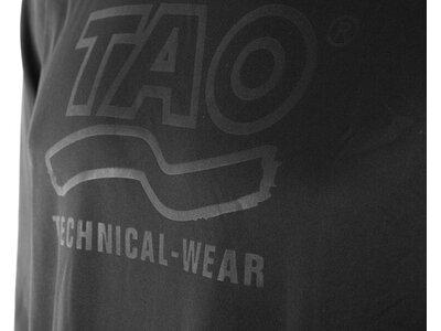 TAO Funktionelles Herren langarm Oberteil mit Logo Prägung PRASUS Schwarz
