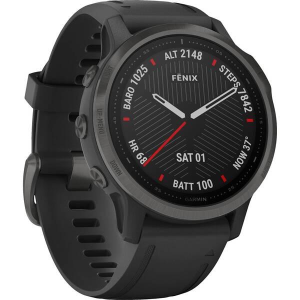 """GARMIN GPS-Multifunktionsuhr """"Fenix 6S Sapphire"""" Schwarz/Schiefergrau DLC"""