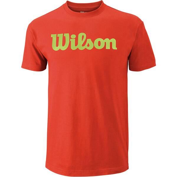 WILSON Herren Tennisshirt Script Kurzarm