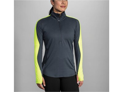 "BROOKS Damen Laufshirt ""Nightlife 1/2 Zip W"" Langarm Grau"