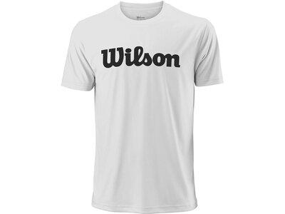 WILSON Herren Tennisshirt UWII Script Tech Tee Kurzarm Weiß