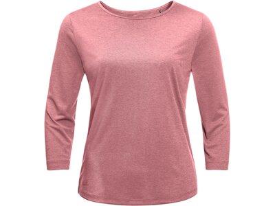"""JACKWOLFSKIN Damen Shirt """"JWP T"""" 3/4-Arm Pink"""