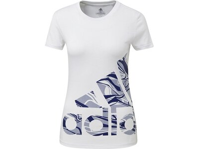 ADIDAS Damen T-Shirt Logo Weiß