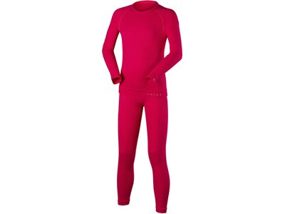 FALKE Kinder Ski- / Funktionsunterwäsche Garnitur Set Longsleeved Shirt + Long Tights Rot