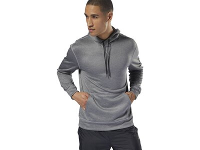 REEBOK Herren Workout Ready Poly Fleece Hoodie Grau
