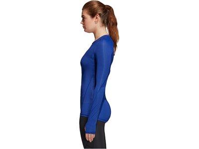 ADIDAS Damen Trainingsshirt Alphaskin Tech Blau
