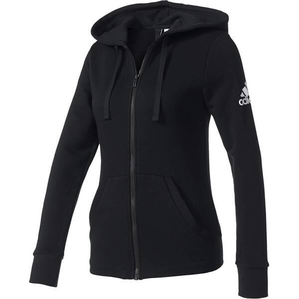 ADIDAS Damen Sweatjacke Essentials Solid Fullzip Hoodie Langarm | Bekleidung > Sweatshirts & -jacken > Sweatjacken | Adidas