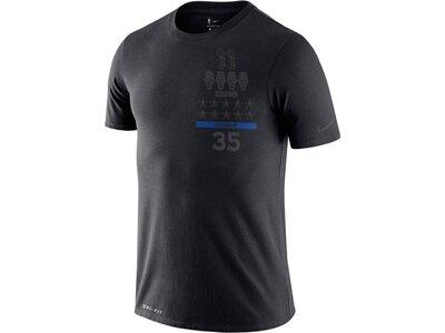 "NIKE Herren Basketballshirt ""Dri-FIT ""MVP"" Kurzarm Schwarz"