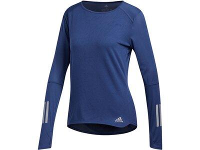 ADIDAS Damen Laufshirt Response Longsleeve Langarm Blau