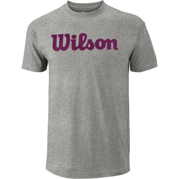 WILSON Herren Tennisshirt Script Cotton Tee