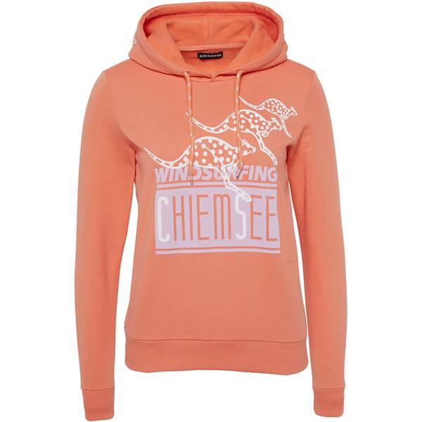 CHIEMSEE Sweatshirt mit Kapuze und großem Frontprint - GOTS zertifiziert