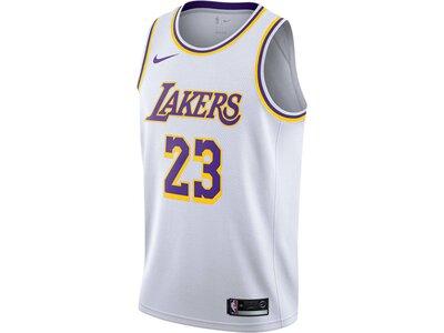 "NIKE Herren Basketball-Trikot ""LeBron James Association Edition Swingman (Los Angeles Lakers)"" Weiß"
