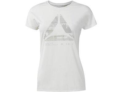 REEBOK Damen ACTIVCHILL Graphic T-Shirt Weiß