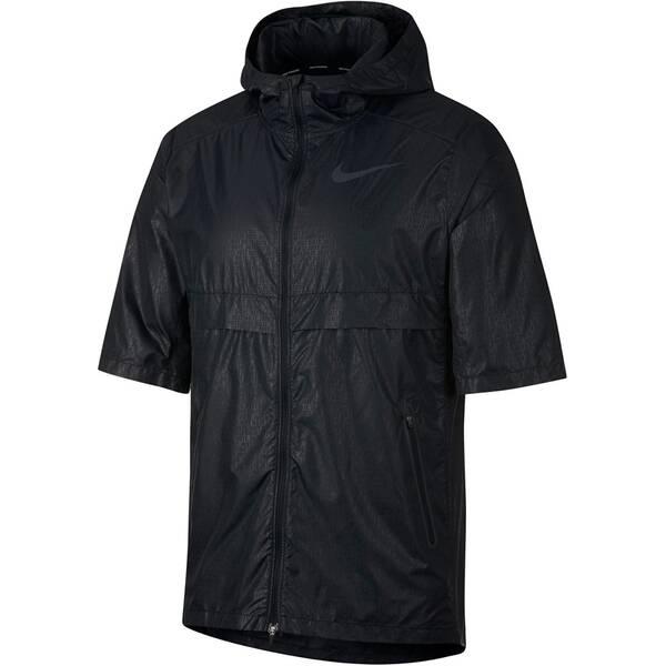 NIKE Herren Laufjacke mit Kapuze Shield S/S Jacket JDI | Sportbekleidung > Sportjacken > Laufjacken | Black | Nike