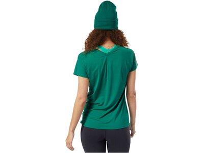 REEBOK Damen Trainingsshirt Kurzarm Grün