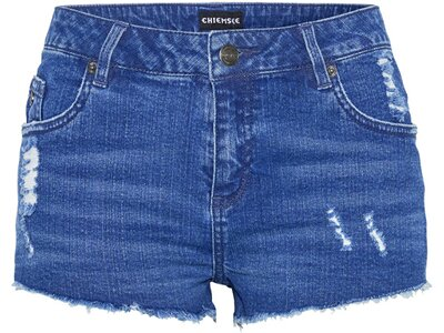 CHIEMSEE Jeansshorts in verwaschener Optik Blau