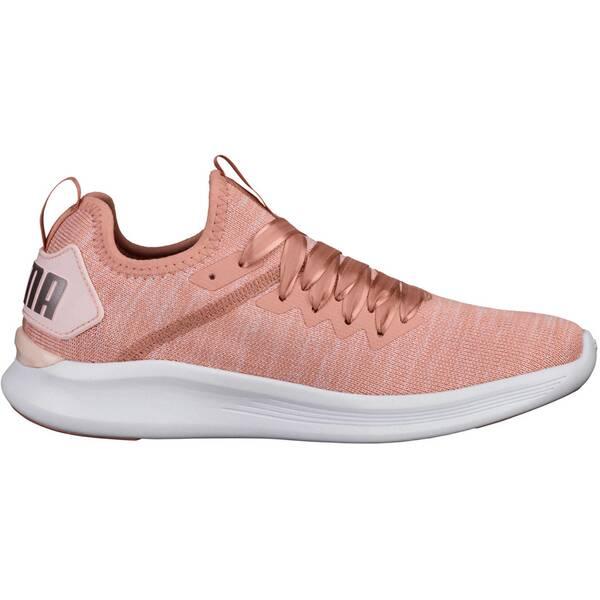 PUMA Damen Fitnessschuhe Ignite Flash evoKnit Satin En Pointe | Schuhe > Sportschuhe > Fitnessschuhe | Beige - White | Satin | Puma