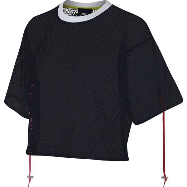 NIKE Damen Shirt Halbarm Cropped