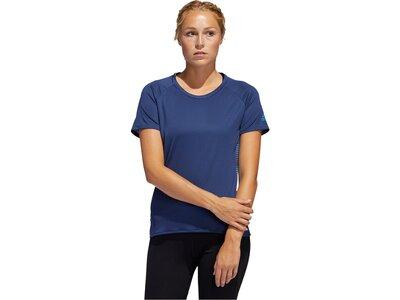 """ADIDAS Damen Laufshirt """"25/7 Tee Rise Up n Run W"""" Blau"""