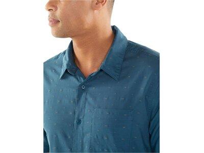 "ICEBREAKER Herren Hemd ""Cool-Lite™ Compass Short Sleeve"" Regular Fit Kurzarm Blau"