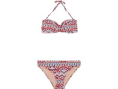 CHIEMSEE Bandeau Bikini-Set gemustert mit abnehmbaren Trägern Bunt