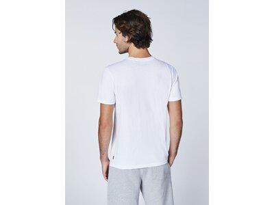 CHIEMSEE T-Shirt mit plakativen Markenschriftzug Weiß
