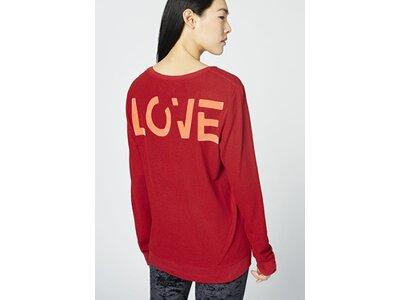 CHIEMSEE Pullover mit LOVE Rückenprint Rot