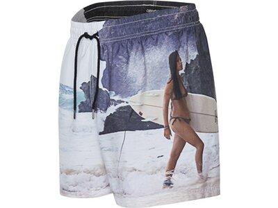 CHIEMSEE Badeshorts mit coolem Fotoprint Weiß