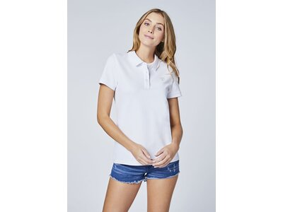 CHIEMSEE Poloshirt mit Kontrastnähten - GOTS zertifiziert Weiß