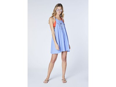 CHIEMSEE Jerseykleid mit verstellbaren Spaghetti Träger - GOTS zertifiziert Blau