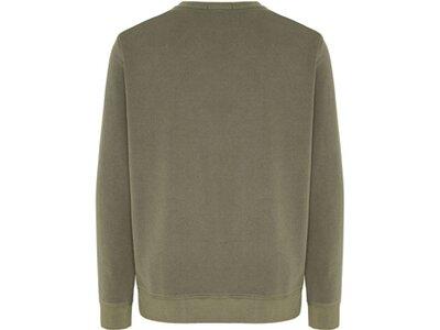 CHIEMSEE Sweatshirt mit tonalem Flockprint Braun