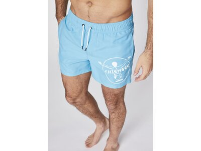 CHIEMSEE Badehose mit CHIEMSEE Print am linken Bein Blau