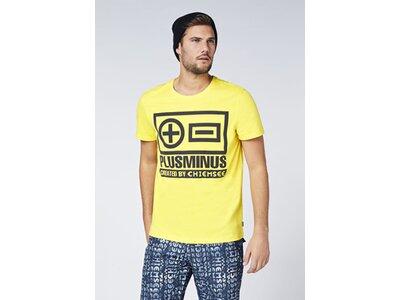 CHIEMSEE T-Shirt mit PlusMinus Frontprint - GOTS zertifiziert Gelb