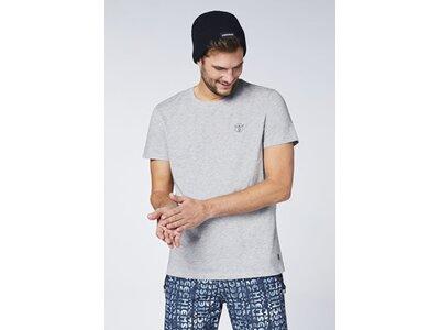 CHIEMSEE T-Shirt mit CHIEMSEE Retro Rückenprint - GOTS zertifiziert Silber