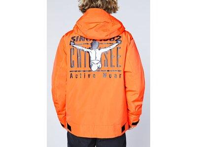 CHIEMSEE Skijacke mit großem Rückenprint Orange