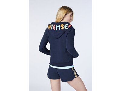 CHIEMSEE Hoodiejacke mit CHIEMSEE Logo an der Kapuze Blau