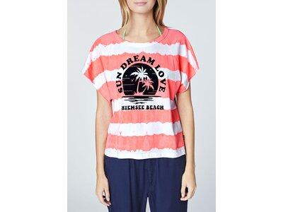 CHIEMSEE T-Shirt mit Batik-Waschung Rot