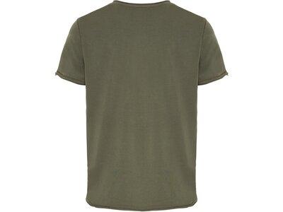 CHIEMSEE T-Shirt mit großem CHIEMSEE Frontprint Braun
